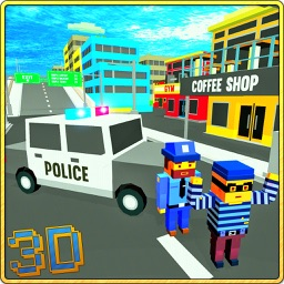 Blocky Police Car Craft Patrol
