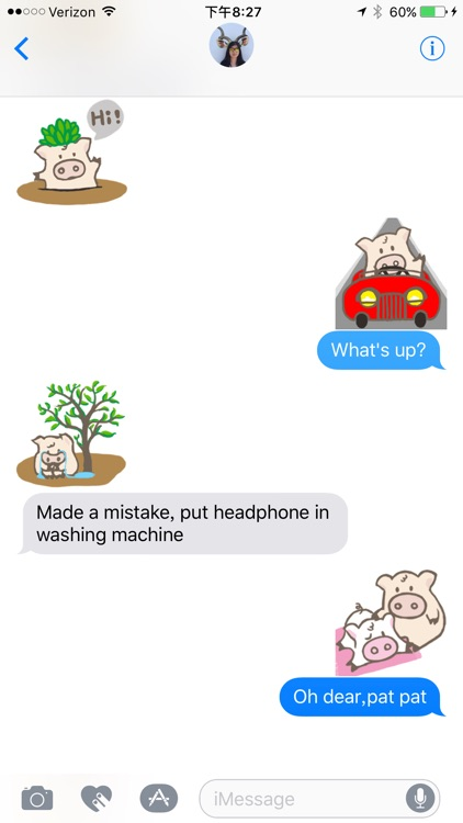 Toto Pig - Adorable Piggy Couple Animated Stickers