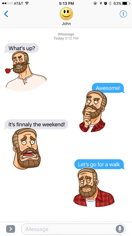 Life with a Beard Stickers