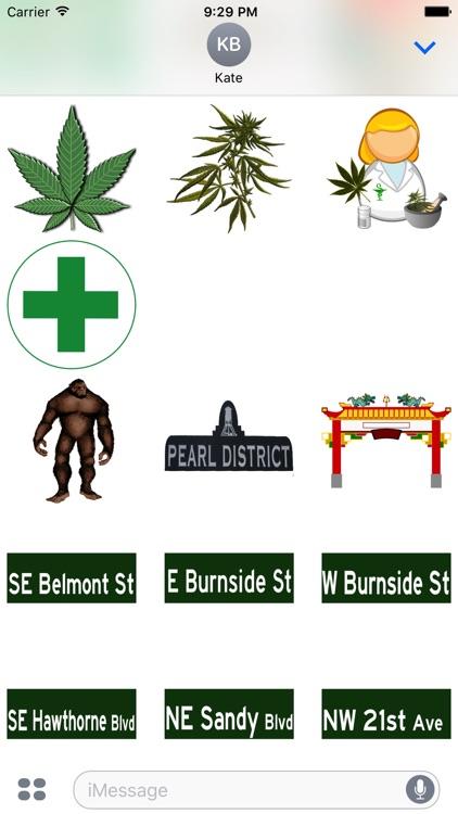 Portland Oregon Sticker Pack screenshot-3