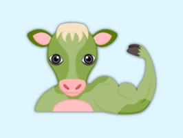 Saint Patrick Cow Lover Stickers