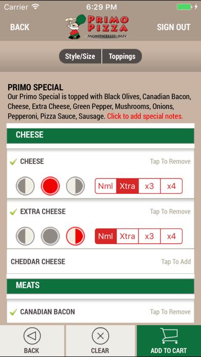 Primo Pizza MNScreenshot of 4
