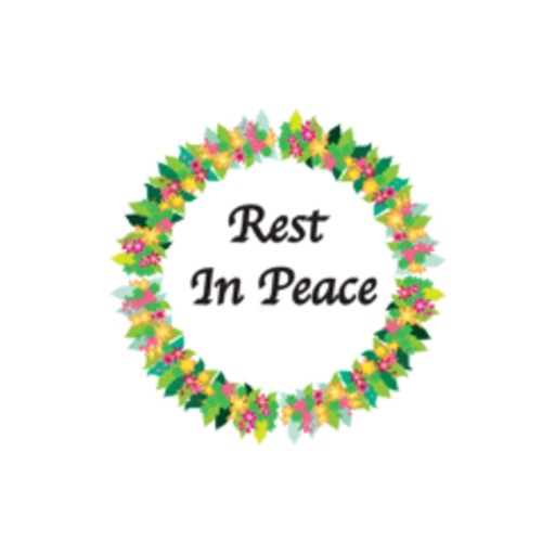 Wreath: R.I.P. stickers by wenpei iOS App