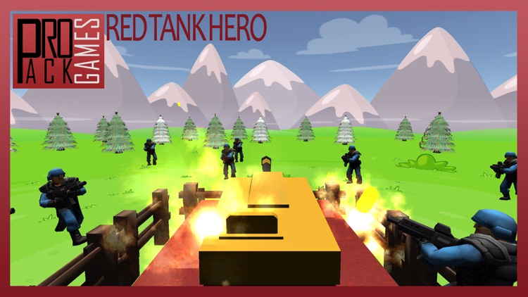 Red Tank hero lite : Trigger the pocket bomb army screenshot-3