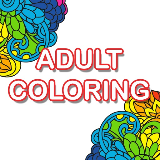 Adult Color Anti Stress Therapy Coloring Book App Logo
