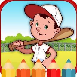 Sport baseball coloring  games for kids