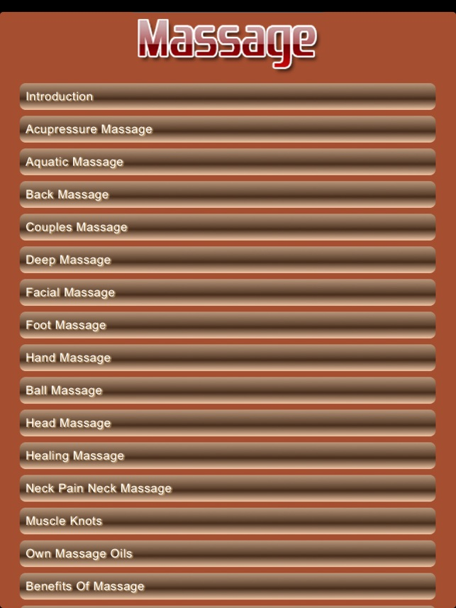 Massage Pro Screenshot