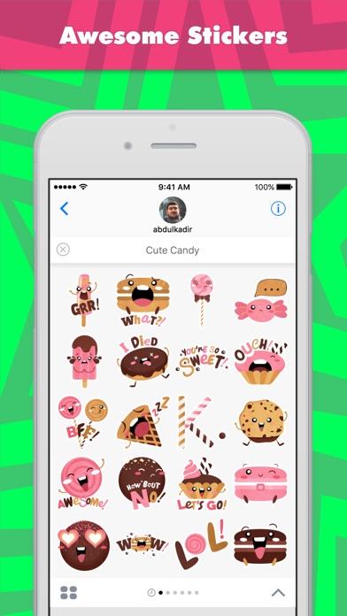 abdulkadirによるかわいいお菓子ステッカーのスクリーンショット1