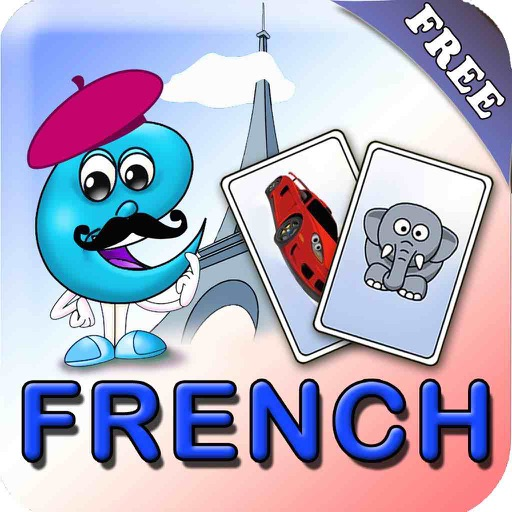 French Flashcards for Kids by EFlashApps iOS App