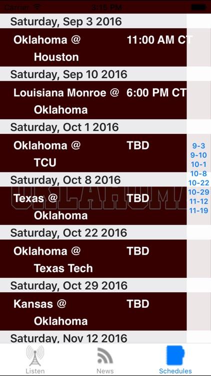 Oklahoma Football - Sports Radio, Schedule & News screenshot-3