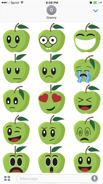 Friendly Fruits Sticker Pack screenshot-1