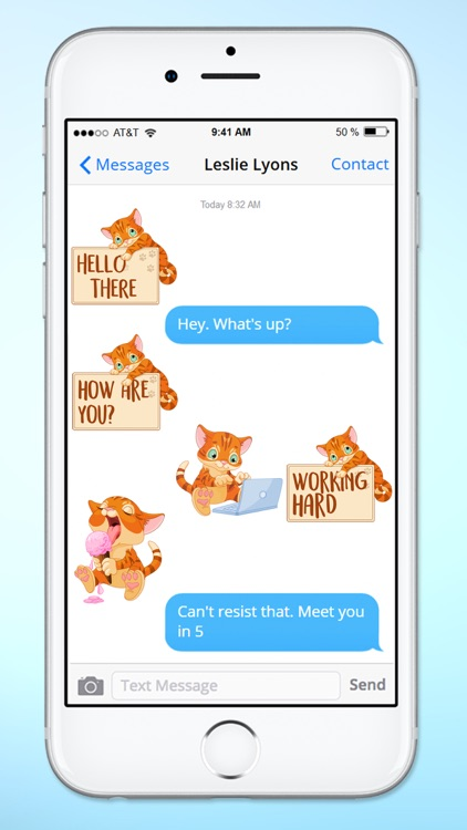 Cute Kitten Messages Sticker Pack