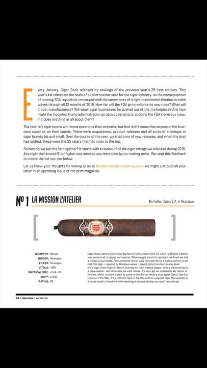Cigar Snob Magazine screenshot-3