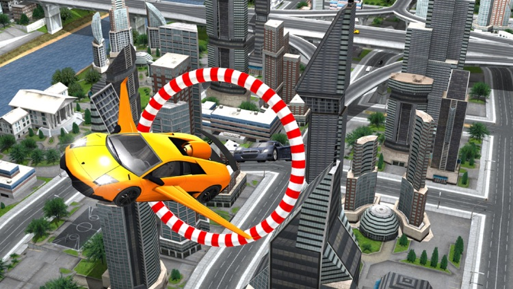 Futuristic Flying Car : Crazy Driving Simulator 3D