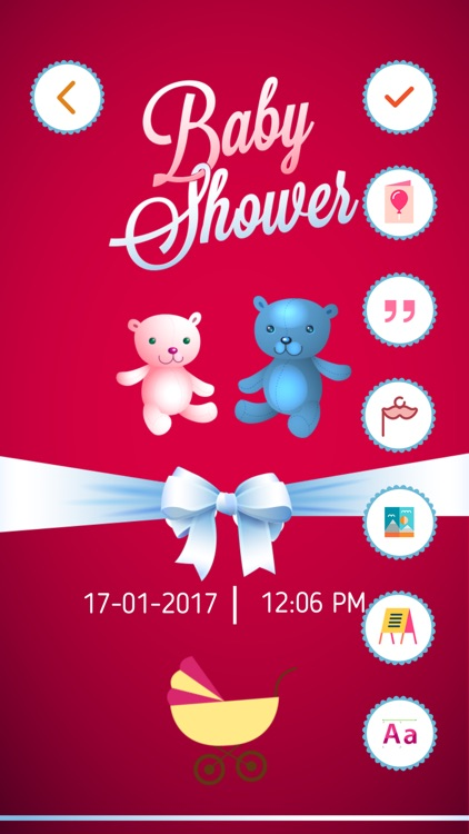 Baby Shower Invitation Cards Maker Hd Pro By Bhavik Savaliya