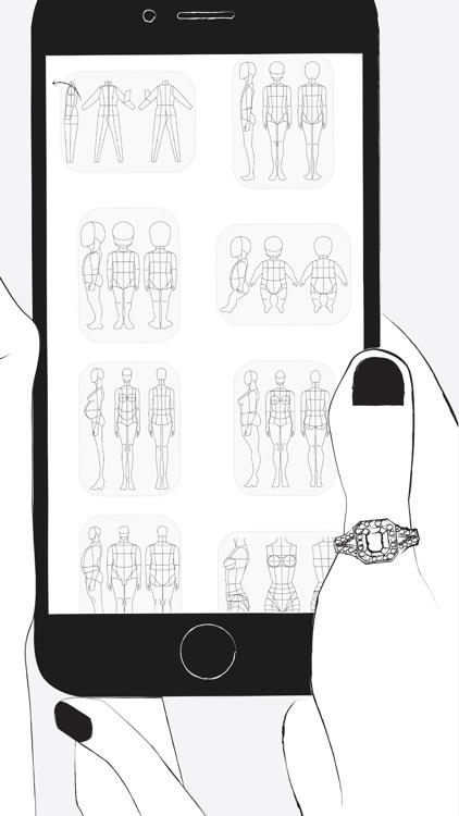 Prêt à Template - Fashion Drawing screenshot-4