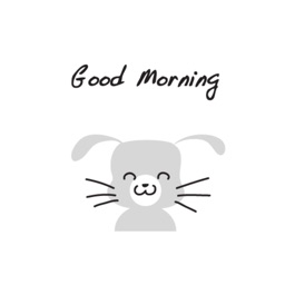 Gray Rabbit stickers by wenpei