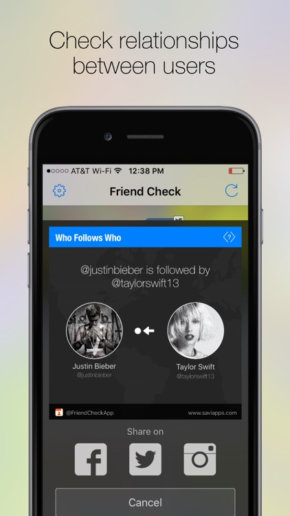 Friend Check, Follow Tracker for Twitter,Instagram