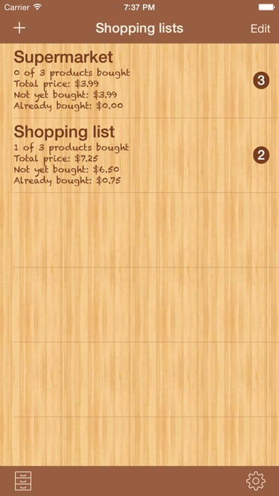 Shoppinglist Pro Edition review screenshots