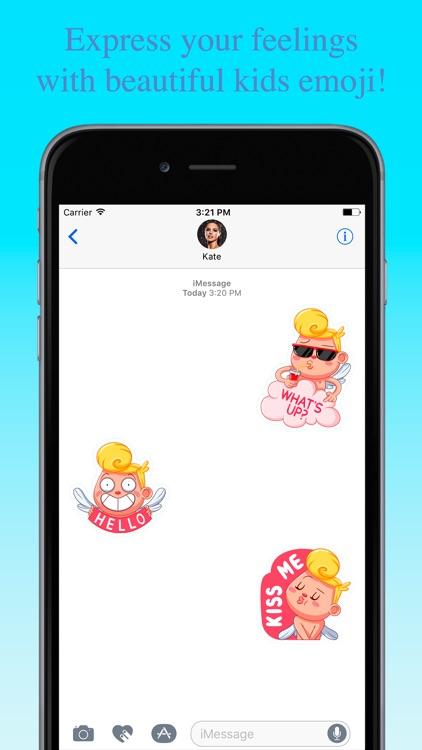 Funny Kids Love Emoji