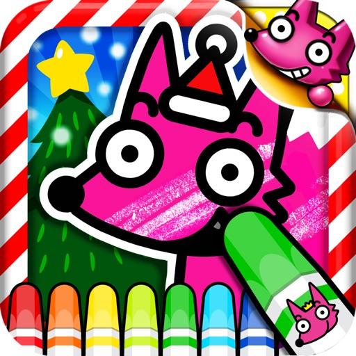 Best Kids Christmas Coloring Book iOS App