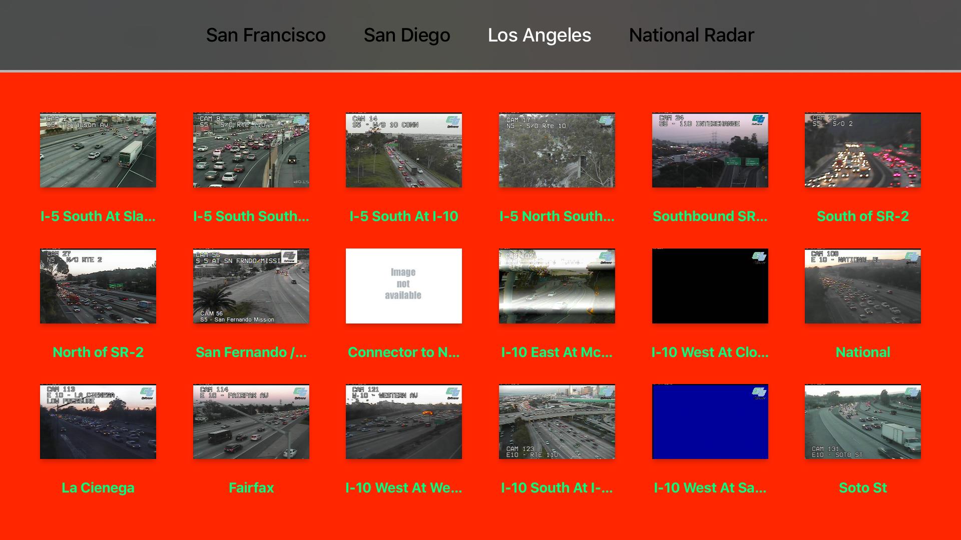 California NOAA Radar and Traffic Camera 3D screenshot 12