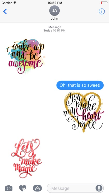 Animated Happy Quotes Stickers screenshot-3