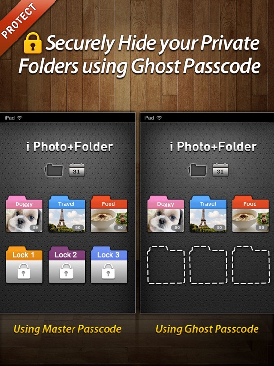 Secret Photo+Folder HD for iPad screenshot-0