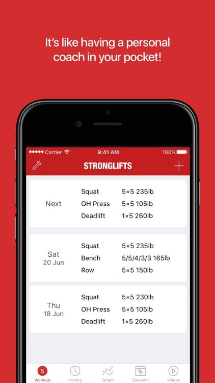 StrongLifts 5x5 Workout screenshot-4