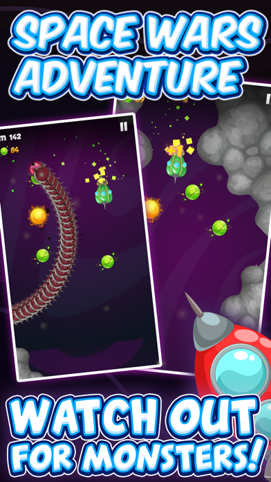 Space Wars Adventure - Collect Stars Avoid Monster screenshot one