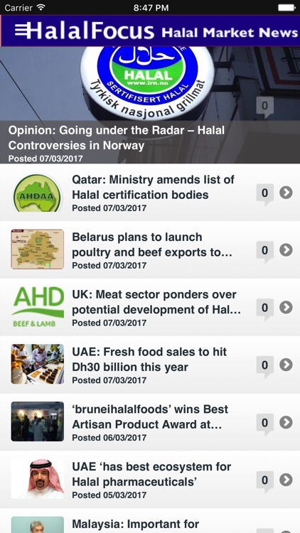 Halal Market News screenshot-1