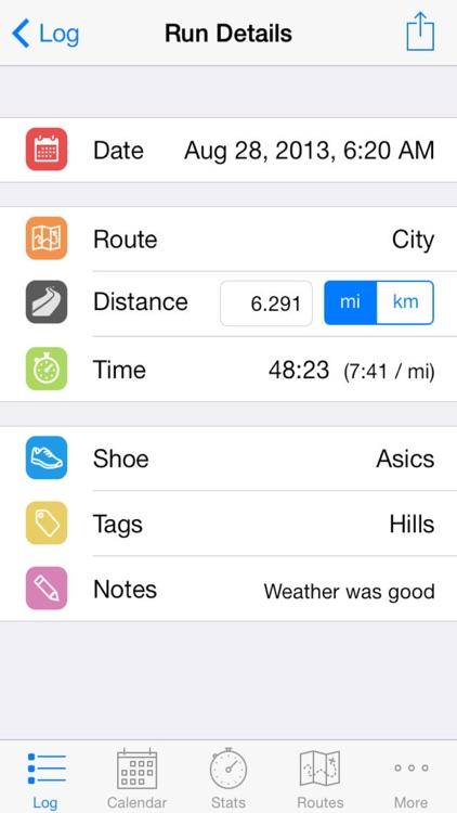 Runner's Log screenshot-3