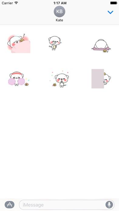 Funny Animated Big Head Cat And Tiny Bird Sticker screenshot 2