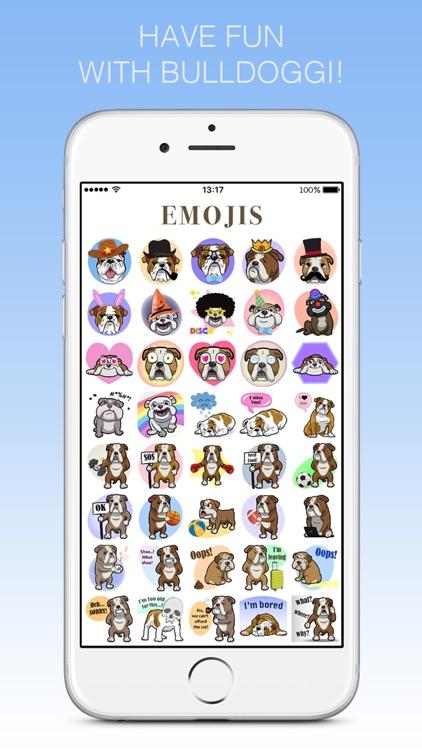 Bulldoggi Emojis - English Bulldog Emoji Stickers