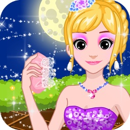 Princess shiny dress up - games for kids