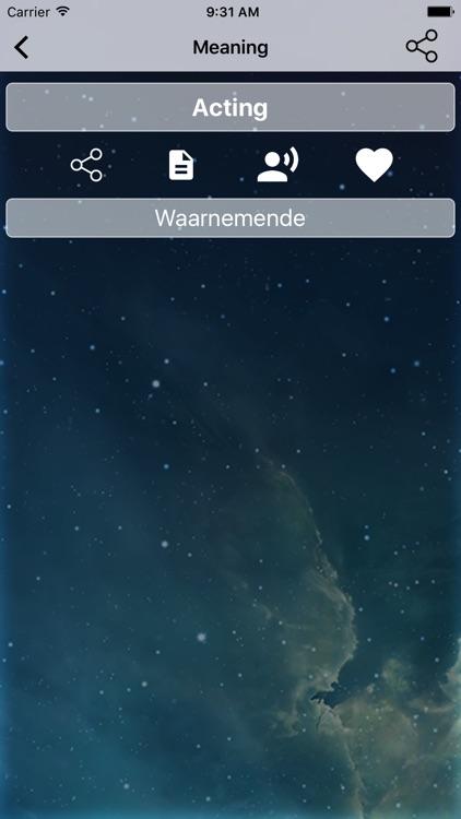 English To Afrikaans Dictionary and Translator screenshot-3