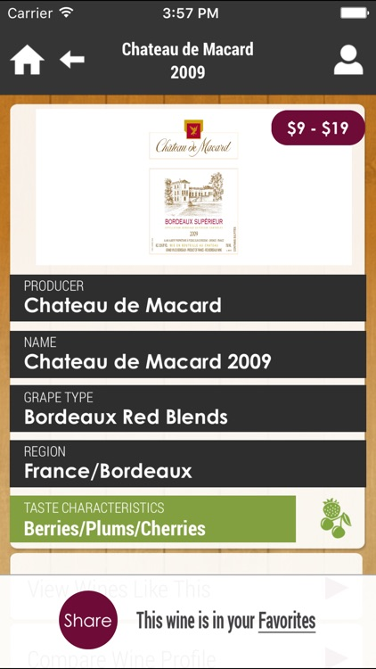 Wine4.Me – Wine and Food Pairing, Recommendation screenshot-3