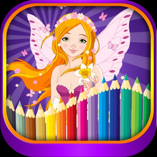 Princess fairy tail coloring for kindergarten