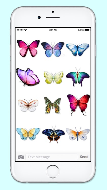 Beautiful Spring & Summer Butterflies Sticker Pack screenshot-2