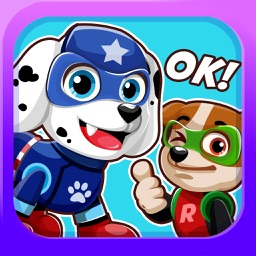 Super-Hero Pups Emoji- Sticker Patrol App for Pro