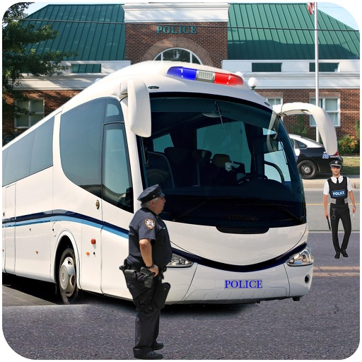 Hill Police Bus : Simulation Driving Game 3D app logo