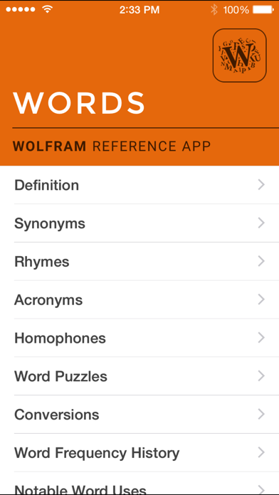 Wolfram Words Reference Appのおすすめ画像1