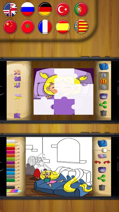 Rapunzel Classic tales - interactive book for kidsScreenshot of 2