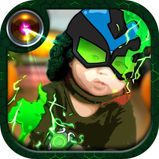 Alien Boy Cartoon Photo Editor Sticker Effect iOS App