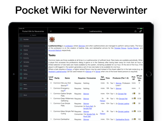 Pocket Wiki for Neverwinter | App Price Drops