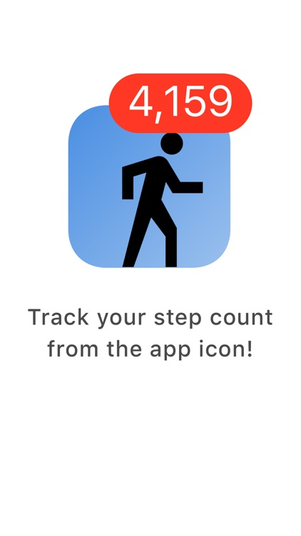 Step Alert - Daily Step Counter on the App Icon