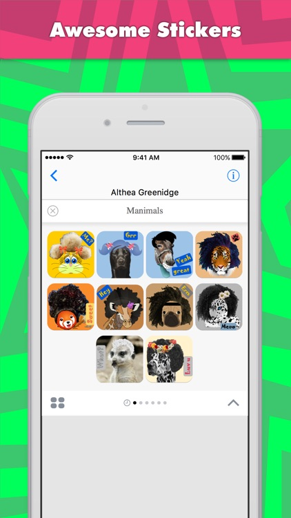 Manimals stickers by Alade Expressions