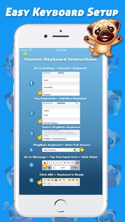 iPugMojis - Pug Emoji Keyboard screenshot-4