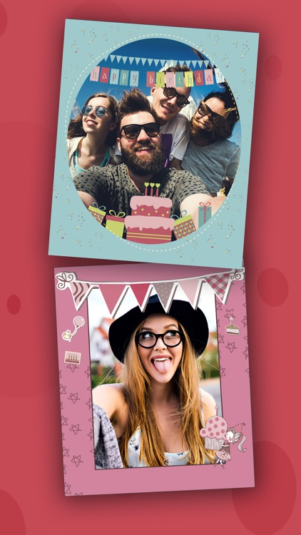 Birthday party photo frames for kids