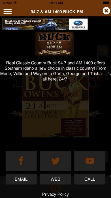 94.7 & AM 1400 Buck FM-2